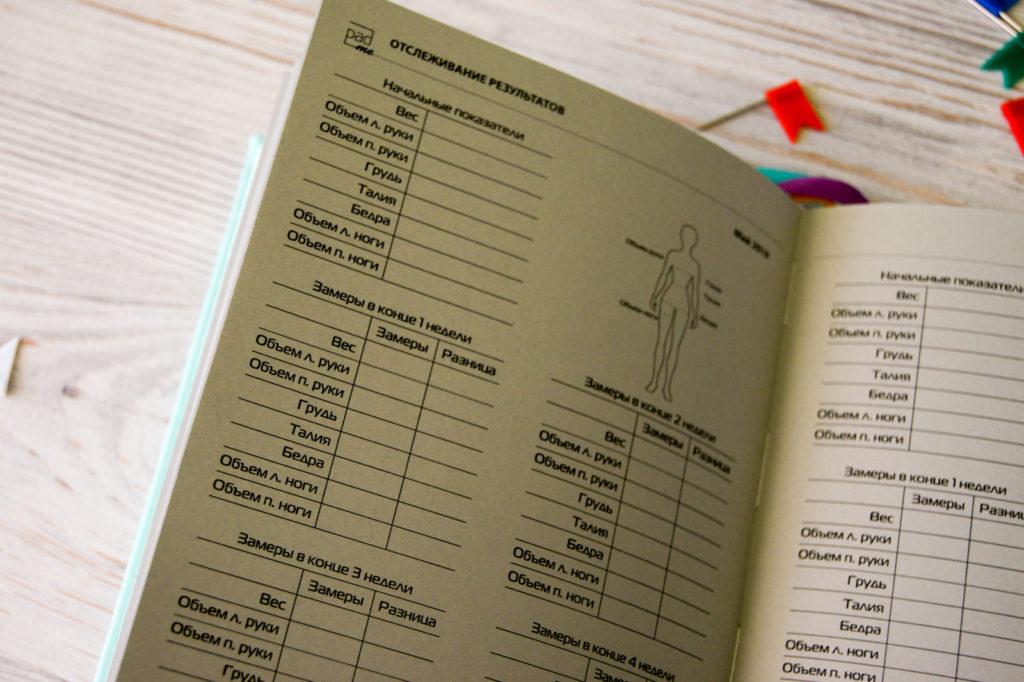 Планер на неделю с обезьянами на страницах. С таблицами по похудению.